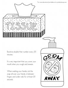 Printable Hand Washing Coloring Pages - Germs Coloring Pages New No More Spreading Germs Coloring Pages for Kids Germs Coloring Pages 1l