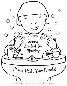 Printable Hand Washing Coloring Pages - Free Printable Coloring Page to Teach Kids About Hygiene Germs are Not for Sharing 2d