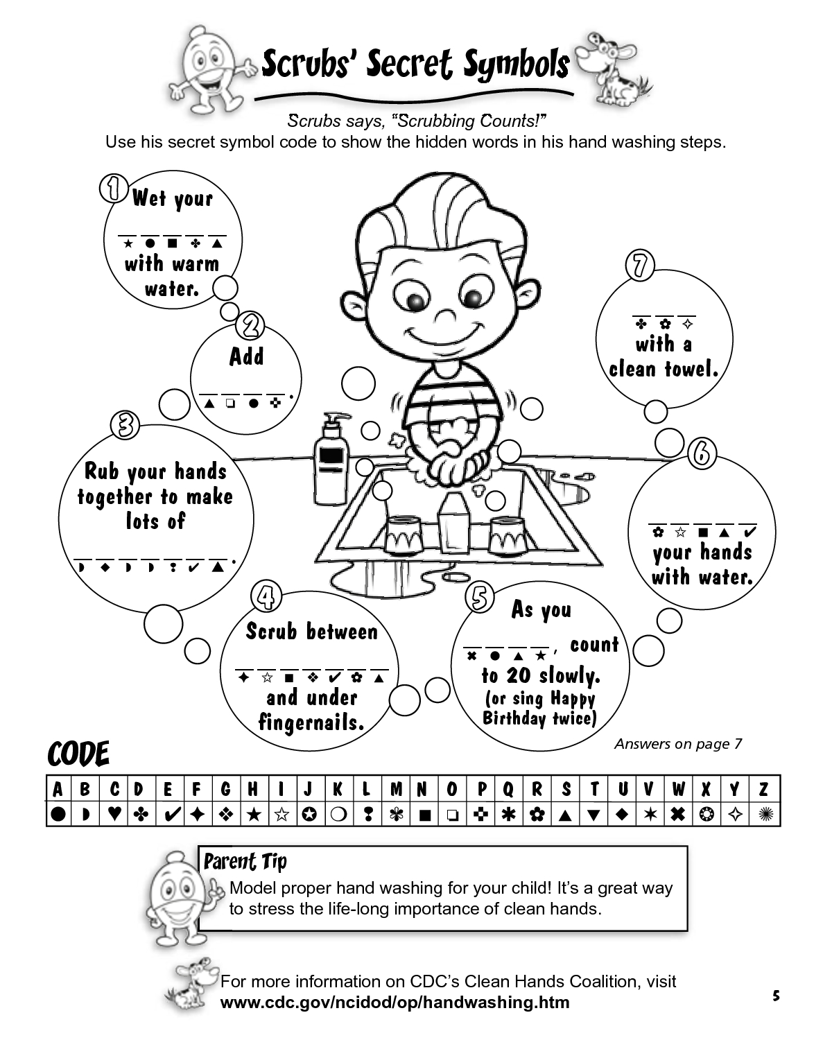 printable hand washing coloring pages Download-Clover Kids germ activity sheets Yahoo Image Search Results 14-p