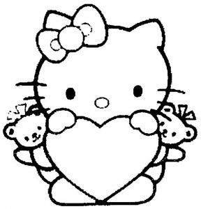 Printable Hello Kitty Coloring Pages - Hello Kitty Angel Bear Angels Coloring Page for Girls Printable 9h