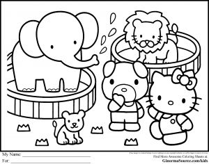 Printable Hello Kitty Coloring Pages - Cute Hello Kitty Coloring Pages 1n