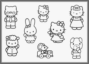 Printable Hello Kitty Coloring Pages - Coloring Pages to Color Line for Free for Adults Free Printable Hello Kitty Family Coloring 16r