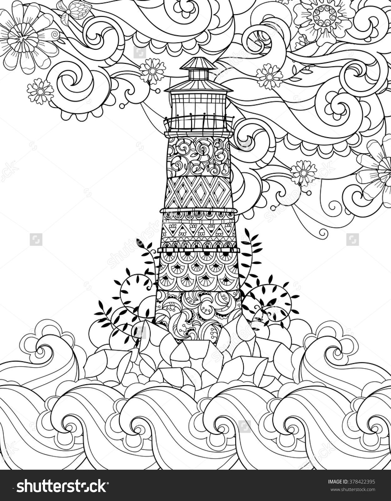 printable lighthouse coloring pages Collection-Free Printable Lighthouse Coloring Pages Printable Lighthouse Coloring Pages Luxury Hand Drawn Doodle Outline 18-m