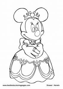 Printable Minnie Mouse Coloring Pages - Cute Minnie Mouse Coloring Pages Free Mickey Mouse Christmas Coloring Pages to Print Minnie Mouse 7e