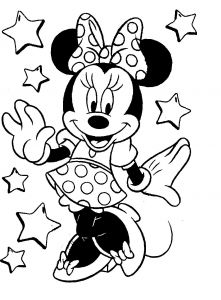 Printable Minnie Mouse Coloring Pages - Coloring Pictures Of Minnie Mouse Google Search 17a