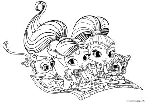 Printable Shimmer and Shine Coloring Pages - Print Shimmer and Shine Pets Coloring Pages 11d