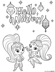 Printable Shimmer and Shine Coloring Pages - Nazboo Shimmer and Shine Coloring Page Pages the From to Shimmer and Shine Zeta the 9j