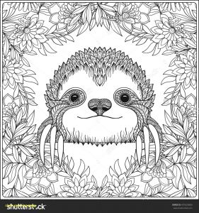 Printable Sloth Coloring Pages - Sloth Coloring Pages 15h