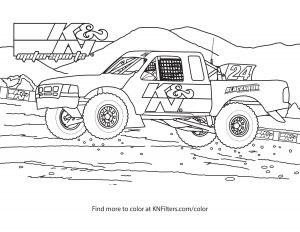 Printable Truck Coloring Pages - F Road Truck K&n Printable Coloring Page 1s