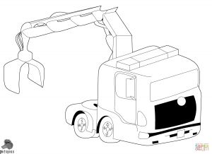 Printable Truck Coloring Pages - Truck with Crane 10t