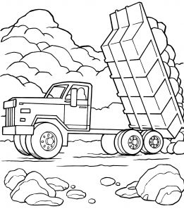 Printable Truck Coloring Pages - Truck Coloring Pages Free Vehicle Coloring Pages for Kids Crafting Dump Truck Coloring 11 3t