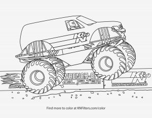 Printable Truck Coloring Pages - Coloring Pages Monster Trucks Easy and Fun Monster Truck Coloring Pages for Kids K&n Printable Coloring Pages 16c