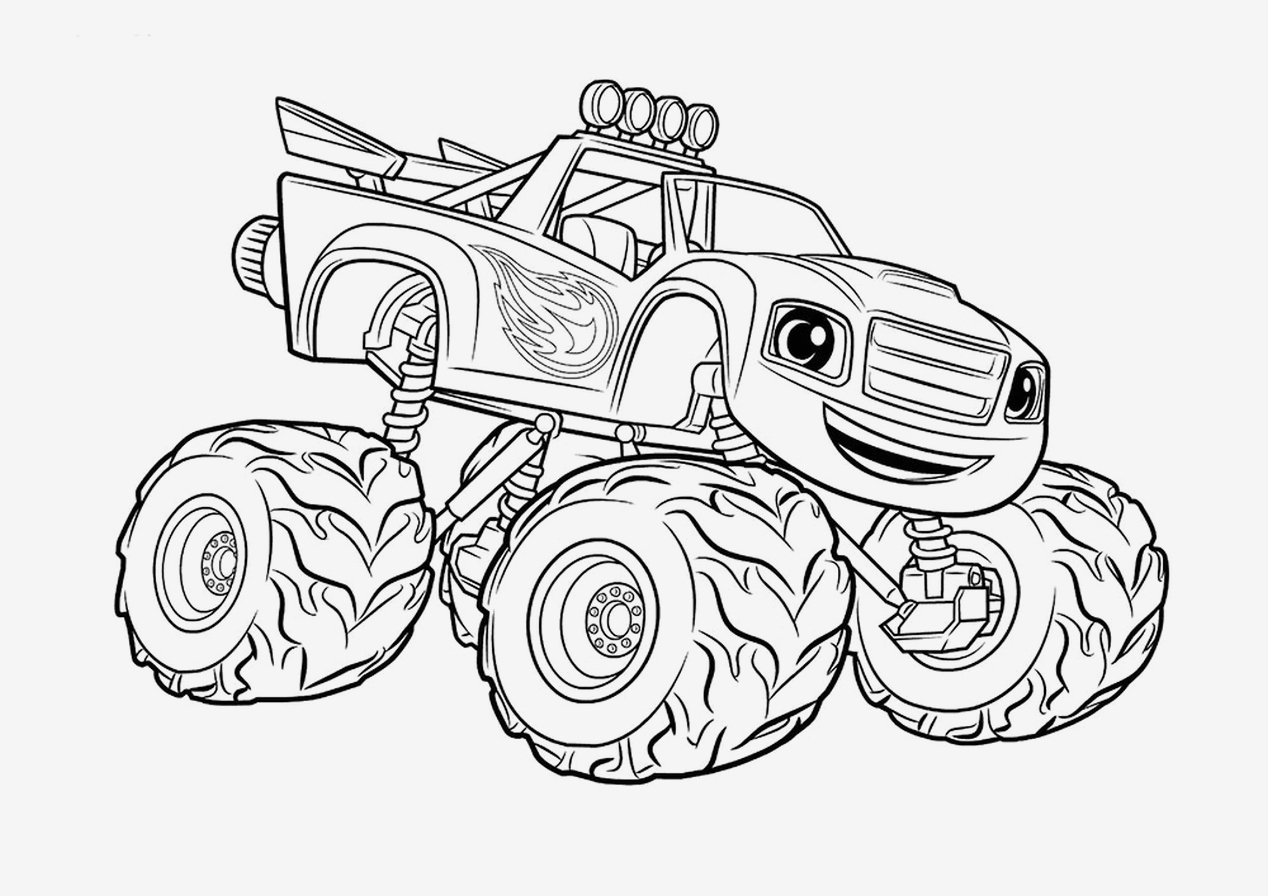 printable truck coloring pages coloring pages monster trucks printable best monster truck coloring pages vector
