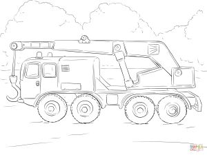 Printable Truck Coloring Pages - the Crane Truck Coloring Pages to View Printable 2h