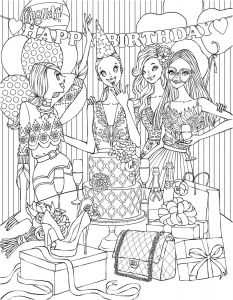 Prodigal son Coloring Pages - Printable Boho Style Fashion Girl Coloring Page Vector Free Prodigal son Coloring Page 7b