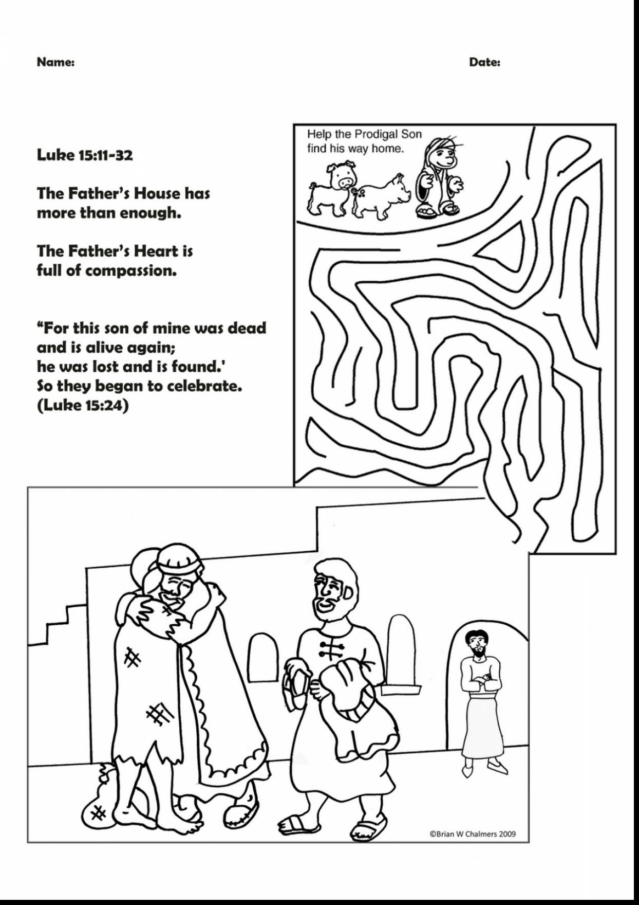 30 Prodigal son Coloring Pages Gallery - Coloring Sheets