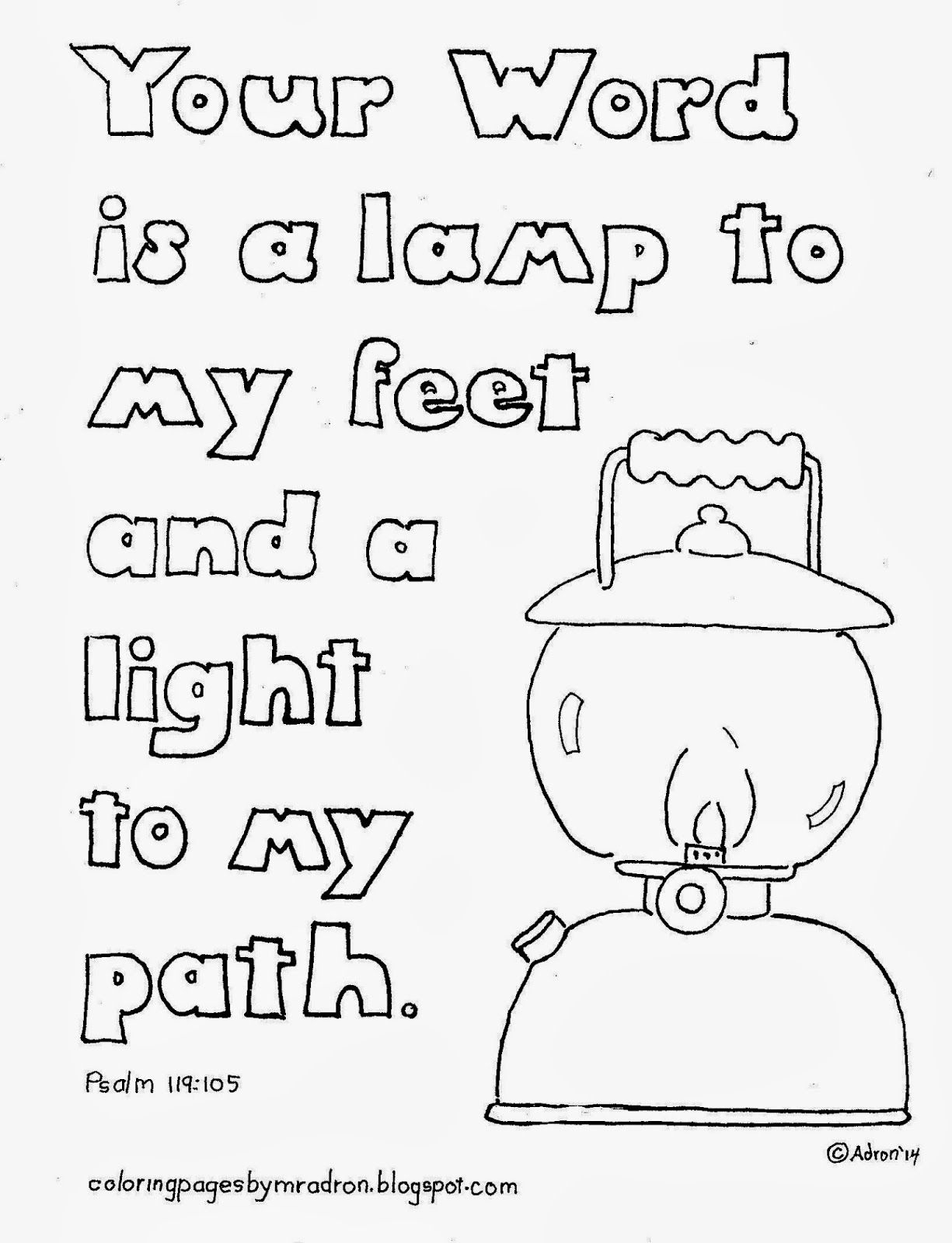 psalm 119 105 coloring pages Collection-Psalm 139 Coloring Page Coloring Pages for Kids by Mr Adron Your Word is A Lamp 17-h