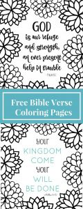 Psalm 23 Printable Coloring Pages - Free Printable Bible Verse Coloring Pages with Bursting Blossoms Free Printable Coloring Pages Pinterest 8e