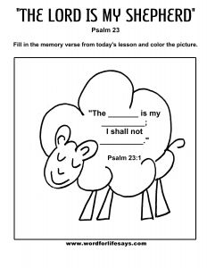 Psalm 23 Printable Coloring Pages - Portfolio Psalm 23 Coloring Page Big Printable Pages for Kids by Mr Adron 6 3a