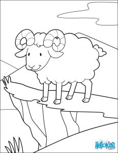 Psalm 23 Printable Coloring Pages - Print Out and Color This Adventurer Ram Coloring Page Cute and Amazing Farm Animals Coloring Page for Kids More Coloring Sheets On Hellokids 5r