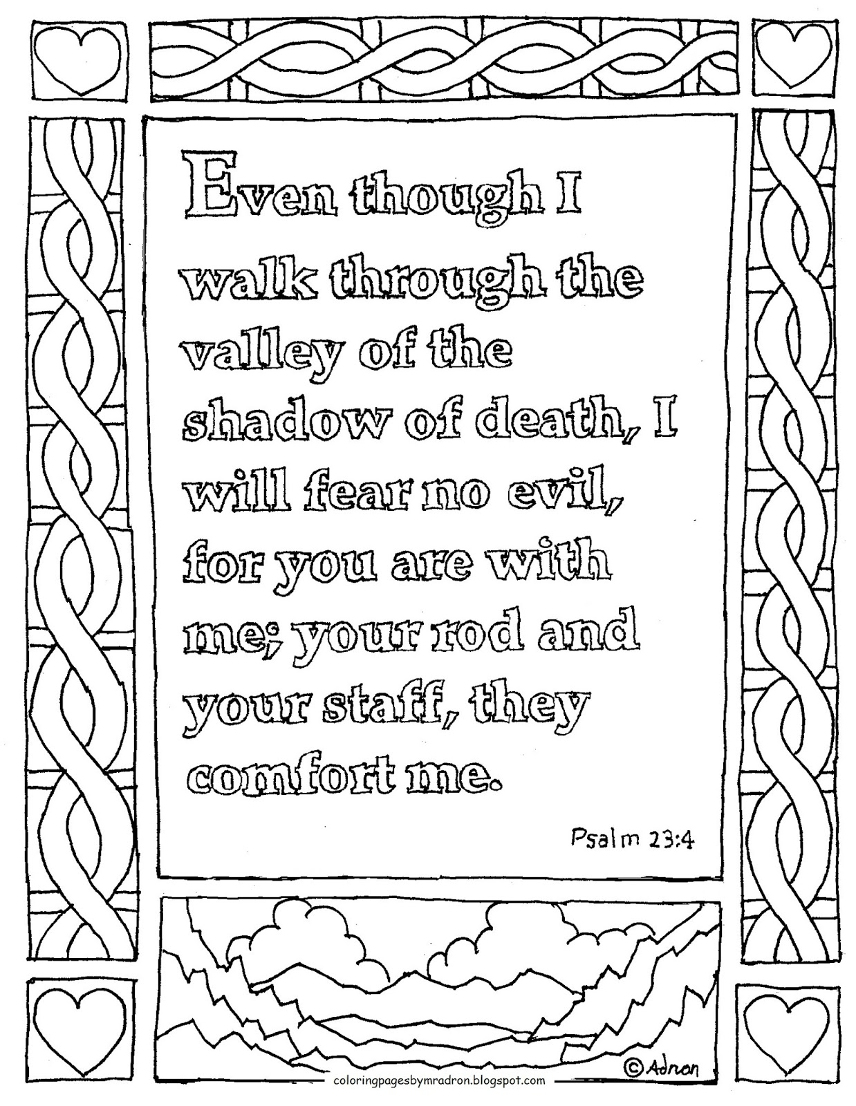 psalm 23 printable coloring pages Download-Impressive Design psalm 23 coloring page Coloring Pages for Kids by Mr Adron Printable Coloring Page 4-n