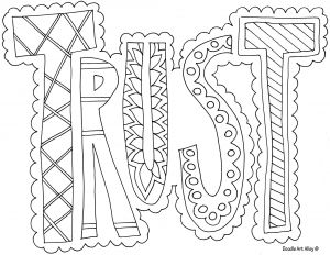 Psalm 23 Printable Coloring Pages - Trust Coloring Page ༠⚜༺ ❤ ༠⚜༺ 10d