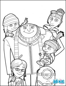 Purple Minions Coloring Pages - Despicable Me Gru and All the Family Coloring Page More Despicable Me Coloring Sheets On Hellokids 5h