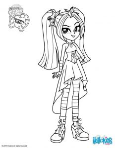 Rainbow Rock Coloring Pages - My Little Pony Equestria Girls Coloring Pages 15f