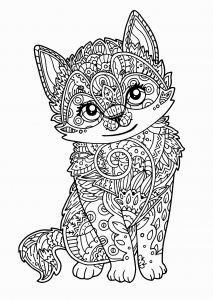 Realistic Fox Coloring Pages - Realistic Cat Coloring Pages Realistic Cat Coloring Pages Luxury Cat Coloring Pages for Adults 1k