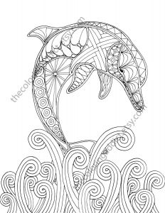 Saltwater Fish Coloring Pages - Dolphin Coloring Page Adult Coloring Sheet Nautical Coloring Ocean Colouring… 3s