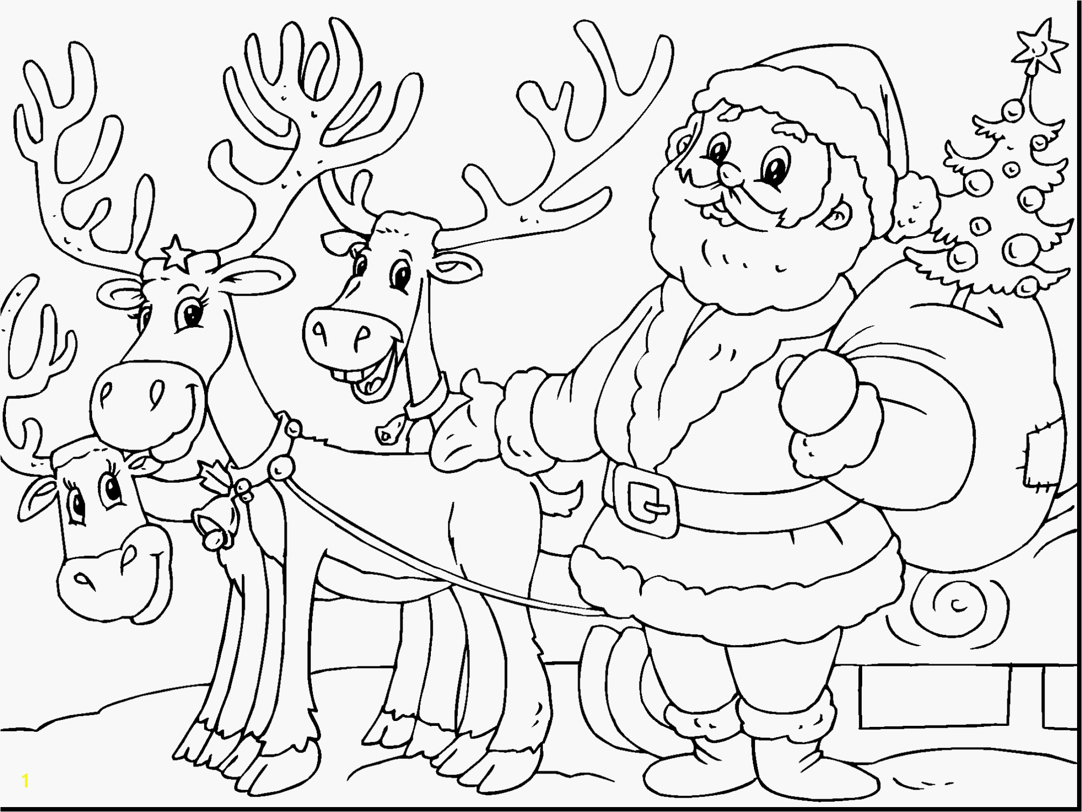 santa claus coloring pages Collection-Reindeer Coloring Pages Santa Claus and His Reindeer Coloring Pages 14-r