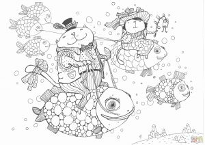 Santa Claus Coloring Pages - Santa Claus Coloring Pages Santa Claus with Christmas Tree Coloring Pages 7f