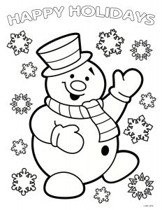 Santa Claus Coloring Pages - Santa & Mrs Claus Coloring Page 11g