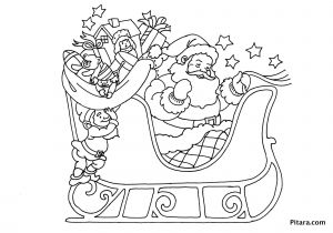 Santa Claus Coloring Pages - Santa Claus His Sleigh Coloring Pages 19i