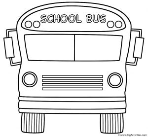 School Bus Coloring Pages Printable - School Bus Front – Coloring Page 100th Day Of School 4p