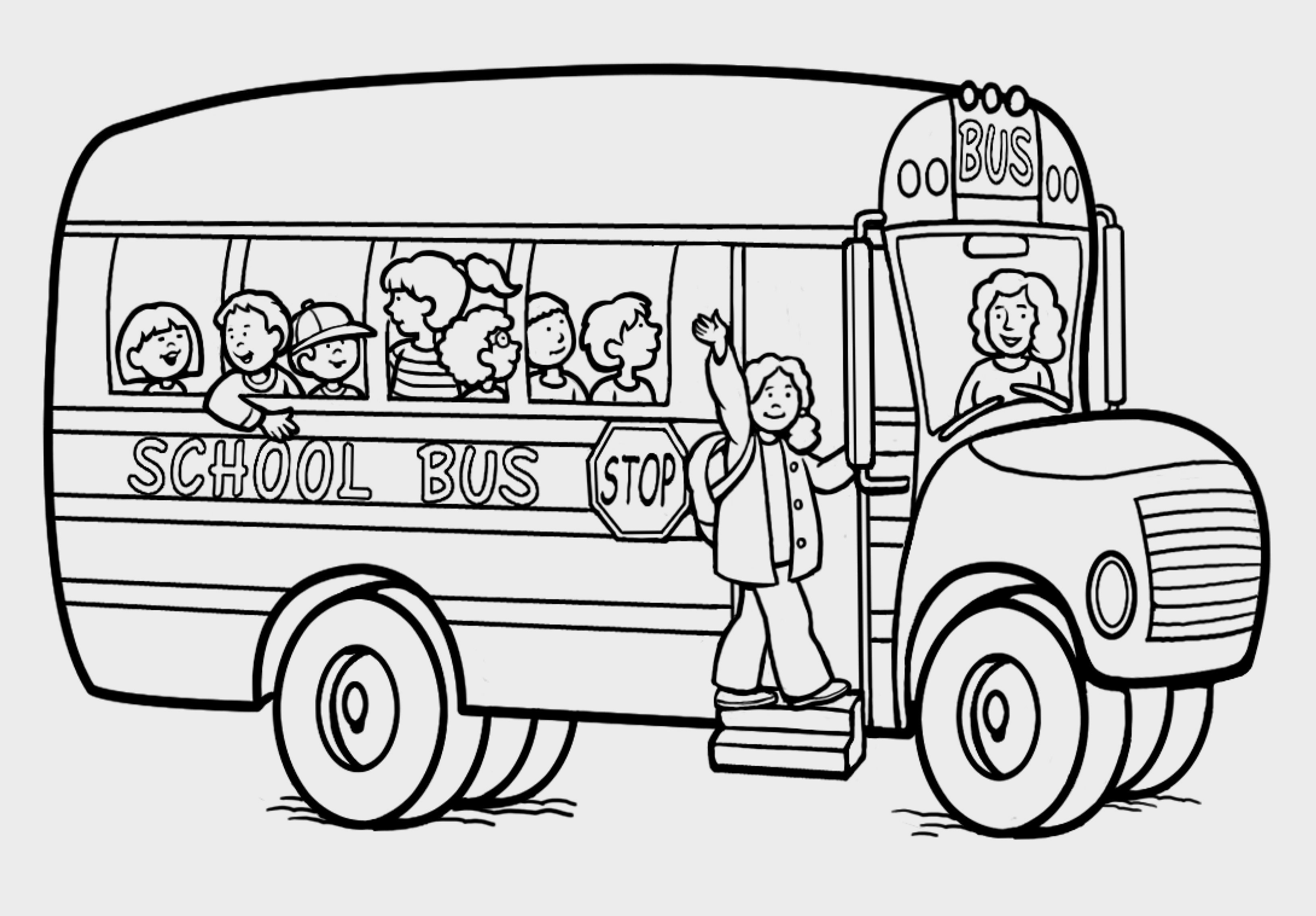 school bus coloring pages printable Collection-School Bus Color Page 20-m