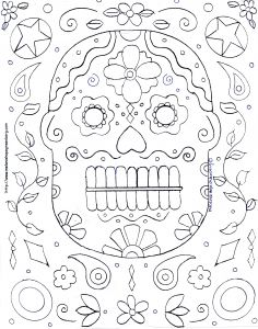 Science Coloring Pages for Middle School - Halloween Mask Coloring Page 1p