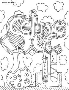 Science Coloring Pages for Middle School - Science Coloring Page Book Cover 15e