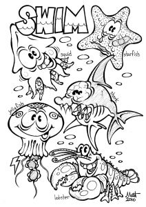 Sea Animal Coloring Pages Printable Free - Under the Sea Coloring Pages Fresh Water Animal Coloring Pages Heathermarxgallery 1s