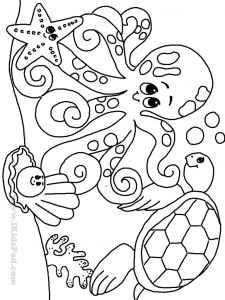 Sea Animal Coloring Pages Printable Free - Free Printable Ocean Coloring Pages for Kids Coloring Pages Featuring Pictures Of the Nature and Its Beauties Have Been Highly sought after since the 14s