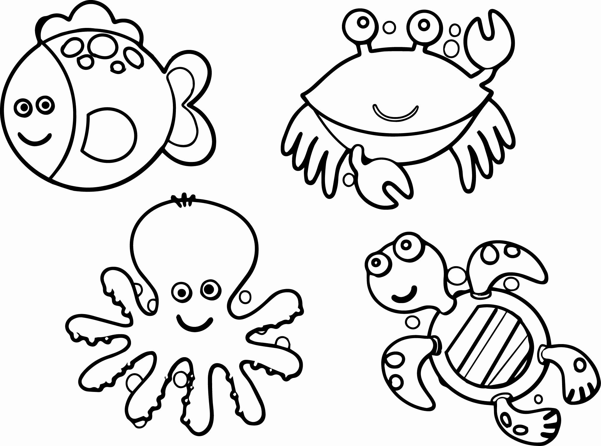 sea animal coloring pages printable free Collection-Free Printable Animal Coloring Pages Unique Ocean Animals Coloring 9-d