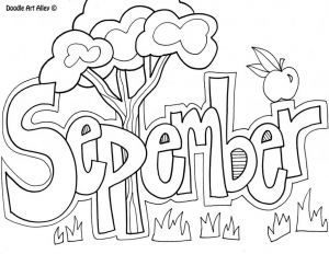 September Coloring Pages to Print - Printable Calendar Starting with September Printable Saveenlarge · September Coloring Pages 19a