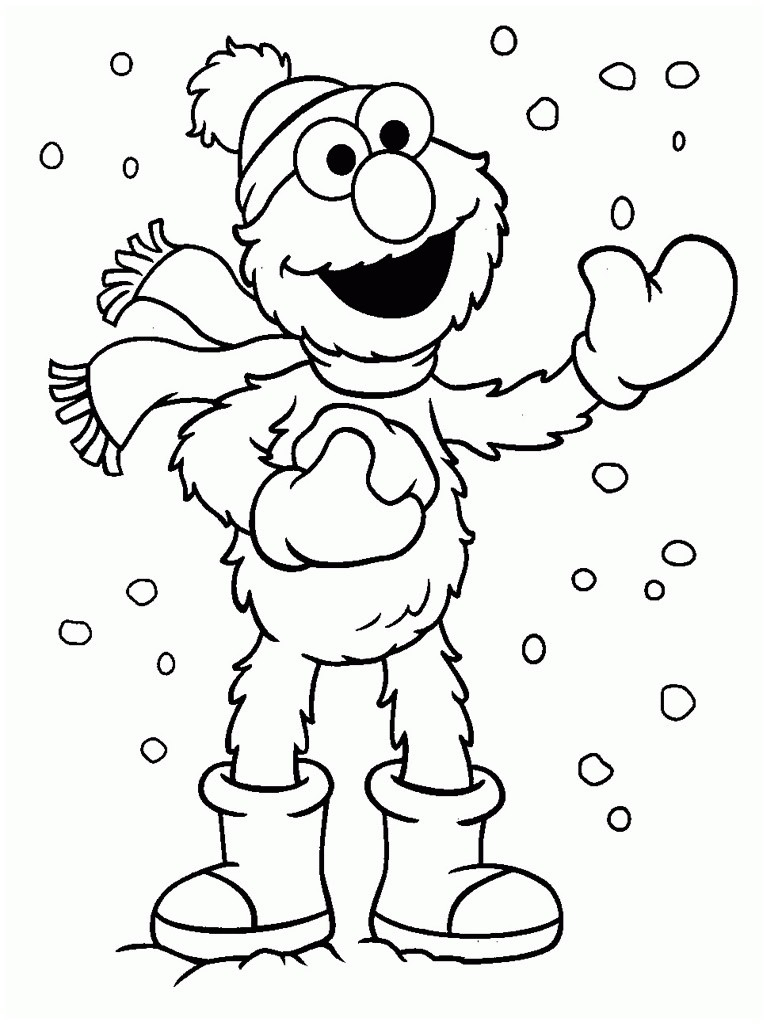 sesame street printable coloring pages Collection-Sesame Street Christmas Coloring Pages Cute Coloring Sesame Street Coloring Pages 6-n