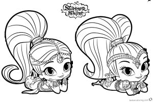 Shimmer and Shine Coloring Pages - Shimmer and Shine Coloring Pages Rest On the Floor Free Printable Coloring Pages 18a