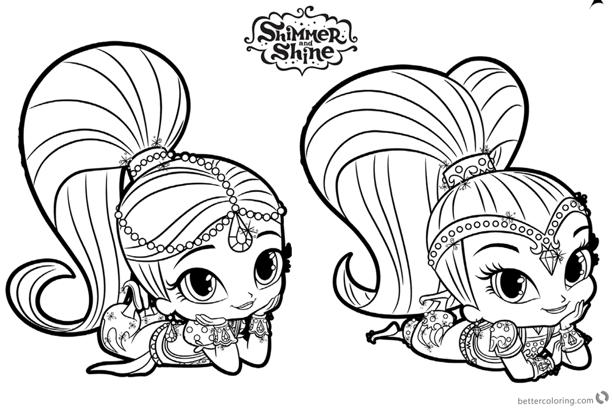 photo relating to Free Printable Shimmer and Shine Coloring Pages identify 23 Shimmer and Glow Coloring Webpages Selection - Coloring Sheets