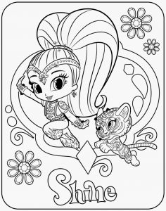 Shimmer and Shine Coloring Pages - Shimmer and Shine Printable Coloring Pages Printable Shimmer and Shine Coloring Pages Awesome 30 Magicalshimmer 7l