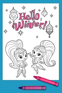 Shimmer and Shine Coloring Pages - Wonderful Looking Shimmer and Shine Printable Coloring Pages Winter Page Nickelodeon Parents 2f