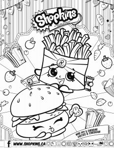Shopkins Coloring Pages - French Fries Coloring Page Food Coloring Pages 18i