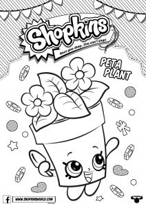 Shopkins Crayola Coloring Pages - Shopkins Crayola Coloring Pages Shopkins Coloring Pages Season 4 Peta Plant Printable 5 15c