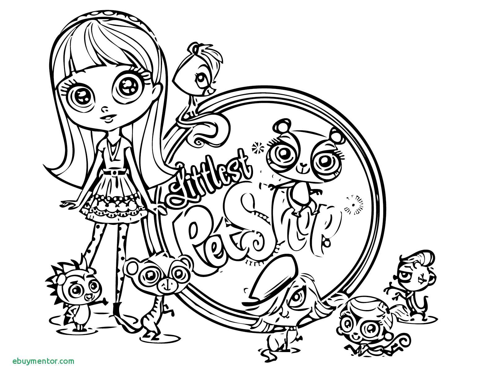 shopping coloring pages Collection-Littlest Petshop Coloring Pages Awesome Littlest Pet Shop Coloring Page Concept Printable Coloring 4-f